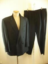 Mens sz 42R Ermenegildo Zegna 54R black double breasted tuxedo 2-pc formal suit
