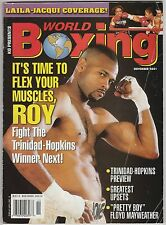 WORLD BOXING MAGAZINE ROY JONES Jr-LAILA ALI-JACQUI FRAZIER COVER NOVEMBER 2001