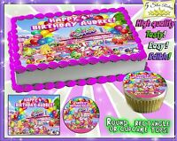 Shopkins Cake or Cupcakes Topper image SHEET picture edible sugar paper photo