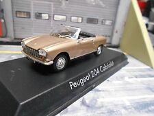 PEUGEOT 204 Cabrio Cabiolet gold beige met. 1967 Norev NEU 1:43
