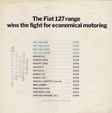 Fiat 127 Price Comparisons 1978 UK Market Leaflet Brochure Polo R5 Fiesta 104