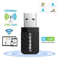 1300Mbps USB 3.0 Wireless WiFi Network Receiver Adapter 5GHz Dual Band Dongle