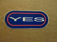 Rock & Roll YES Vintage Circa 1970's Music Bumper Sticker