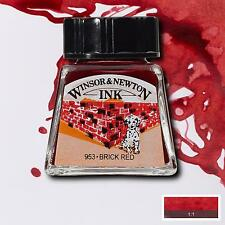 ColArt 1005040 Drawing Ink 14ml Brick Red