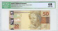 50 Reais Brasilien BA Mantega / Meirelles - Brazil ICG Graded 68 GEM UNC