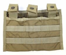 Eagle Allied Industries SFLCS Khaki Triple 5.56 MOLLE Mag Shingle 1x3 Pouch MLCS
