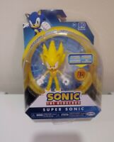 "SONIC THE HEDGEHOG Jakks Pacific 4"" WAVE 3 - SUPER SONIC w/ RING NEW!"