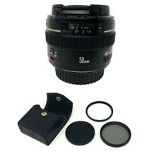 Canon EF 50mm f/1.4 USM Lens + KamKorda Filter Kit 58mm - UK NEXT DAY DELIVERY