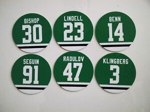Dallas Stars Magnet Set: Benn, Seguin, Bishop, Klingberg, Radulov, Lindell