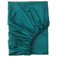 Ikea Nattjasmin Fitted Sheet Dark Green Queen 504.336.71