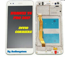 DISPLAY+TOUCH SCREEN+FRAME COVER HUAWEI Y6 PRO 2017 SLA-L02 L22 BIANCO VETRO