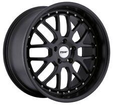 17x8 TSW Valencia 5x112 Rims +45 Matte Black Wheels (Set of 4)