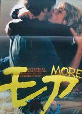 MORE Japanese B2 movie poster BARBET SCHROEDER PINK FLOYD 1969 NM