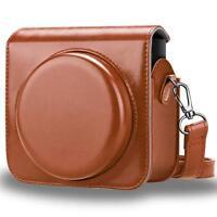 For Fujifilm Instax Square SQ6 Instant Film Camera Case Bag Cover - Brown