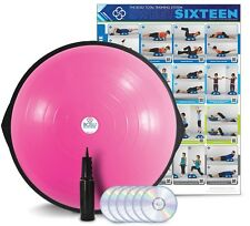NEW - PINK BOSU HOME BALANCE TRAINER WITH DVD AND PUMP