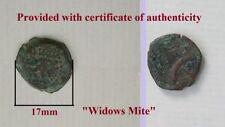 Alexander Jannaeus Ancient Yudea 1 Cent BC Authentic Rare Old Bronze Coin Prutah
