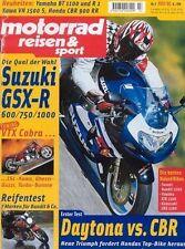 MRS0107 + SUZUKI GSX-R 600 + 750 + 1000 + motorrad reisen & sport 7/2001