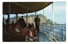 Canada Steamship Lines Vessel Cruising Up the SAGUENAY RIVER Quebec Postcard