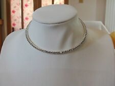 """GDWC18/"""" 338322 NEW AUTHENTIC GEMDROP SILVER 18/"""" WIRE CHOKER"""
