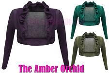 Women's Thin Knit Long Sleeve Boleros Shrugs Jumpers & Cardigans