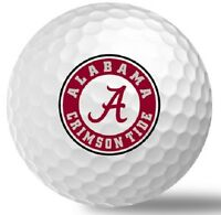 1 Dozen Titleist Pro V1 Mint (NCAA Alabama Crimson Tide LOGO) Golf Balls