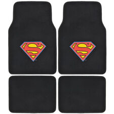Superman Warner Brothers - Black Carpet Floor Mats for Car SUV Vans Trucks