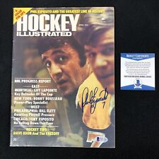 Phil Esposito Signed Boston Bruins 1974 Hockey Illustrated Magazine Beckett COA