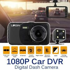 4 in Car DVR Dash Cams Camera Front Rear Video Recorder HD 1080p G-sensor Black