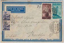 47417 - ITALIA REPUBBLICA - Storia Postale: BUSTA Posta Aerea TARIFFA 87 L. 1947