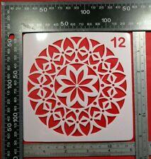 Geometric Flower Stencil Embossing Stone Decor Cardmaking Ink Airbrush Paint #12