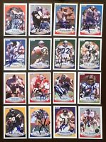HAYWOOD JEFFIRES Houston Oilers 1990 Fleer SIGNED / AUTOGRAPH Card
