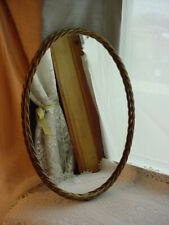 New ListingVtg Oval Mirror Vanity Tray 13 Inch Antique