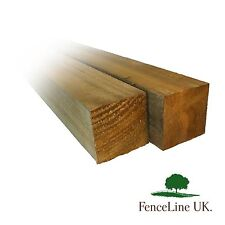 2 Pack 8ft 2.4m 4'' x 4'' 100mm x 100mm Wooden Treated Fence Gate Posts