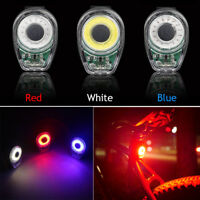 New Smart Bicycle Tail Light USB Charging LED MTB Round Bike Warning Rear Lamp