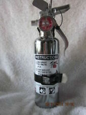 """Chrome"" 1-1/4Lb. Fire Extinguisher New In Box (Amerex)-Free Shipping"