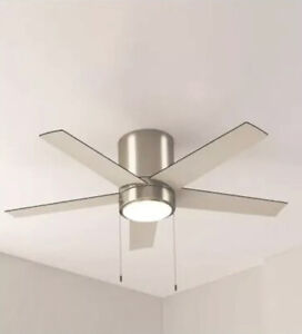 "Quonta 52"" Brushed Nickel Ceiling Fan with Light Kit"