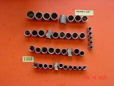 """New ListingVintage Lot Tools Husky Usa 3/8"""" Sockets 1368"""