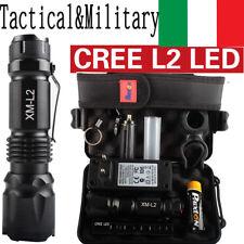 80000lm Militari Police Flash XM-L L2 LED Torcia Torce e illuminatori Portatili