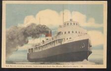 Postcard MANITOULIN ISLAND Ontario/CANADA  Excursion Steamer SS NORISLE 1930's