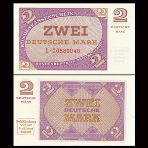 Germany 2 Mark, ND(1967), P-29, banknote, UNC