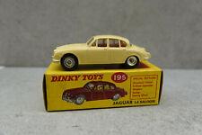 Dinky Toys  195 Jaguar 3.4 Saloon Cream Spun Hubs Very Near Mint  boxed