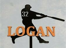 Baseball Player Cake Topper Personalized Baseball Batter Silhouette MLB