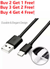 For Galaxy S8 S9 S10 Plus Note 9 N10 10ft USB C Cable Type C Fast Charger Black