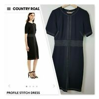 [ COUNTRY ROAD ] Womens Profile Stitch Ponte Dress | Size S or AU 10 / US 6