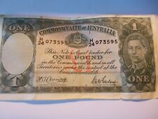 Commonwealth Of Australia One Pound Note - 1942 - Very Good Condition