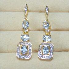 Ceylon White Sapphire Earrings  2.97ct