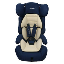 Parker Navy & Beige Child Baby Car Seat Age 4-12 Safety Booster Seat Group 1/2/3