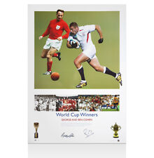 Ben and George Cohen signed print - World Cup Winners Autograph