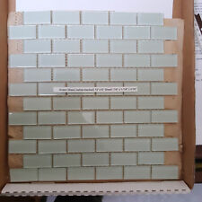 Subway Glass Tile Mosaic Sheets, light green for serene Bathroom or Backspash