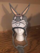 Looney Tunes Bugs Bunny Knit Laplander Hat ~Brand New~